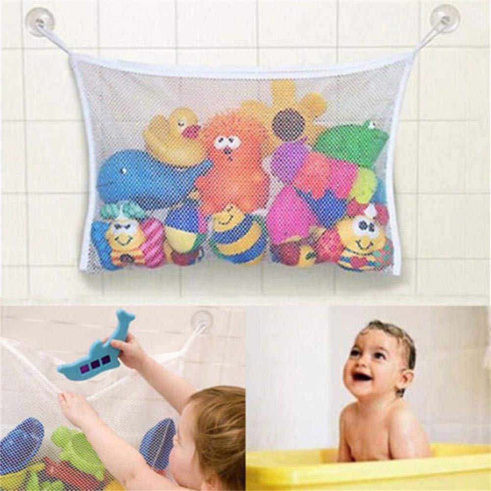 Organizer Bags Make Bath Toy Storage Easy Baby Bath Bathtub Toy Mesh Net Storage Bag,1 x Toys Tidy Bag 2 x Hook Bathroom Organiser