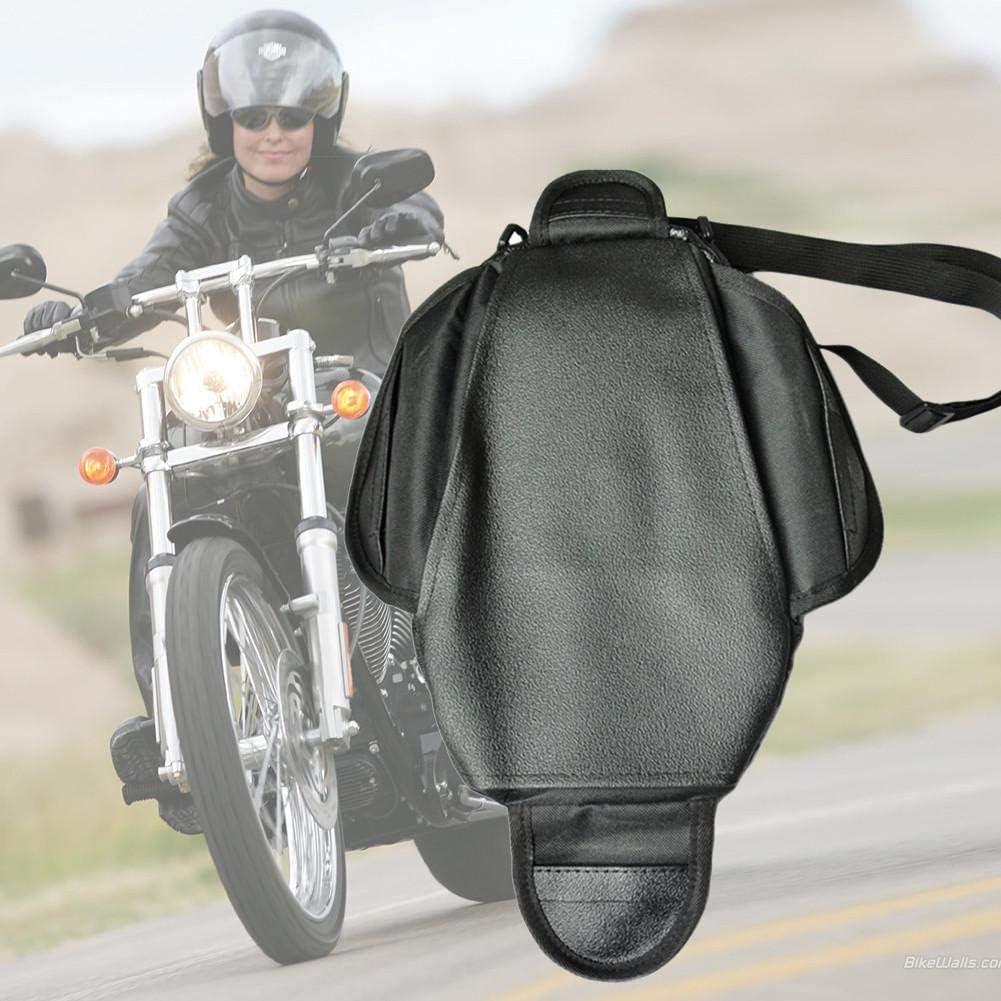 Borsa per Sedile Posteriore Borsa da Moto Nera Impermeabile per Sella Oxford Borsa da Serbatoio per Moto Borsa per Moto Zaino