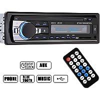 Jolliwin lecteur MP3 / WMA de voiture, Haute qualité Voiture Bluetooth Stéréo de Radiom Lecteur Autoradio de bord FM entrée USB / FM / SD / MP3 / AUX Récepteur Radio