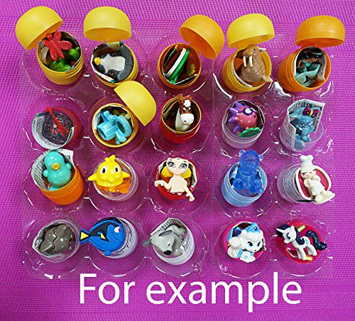 Figure Capsule Action Toys ([RusToyShop] 20psc for Girls Toys From Kinder Surprise Eggs in Shells Capsules Party FavorToy Filled Easter Eggs)
