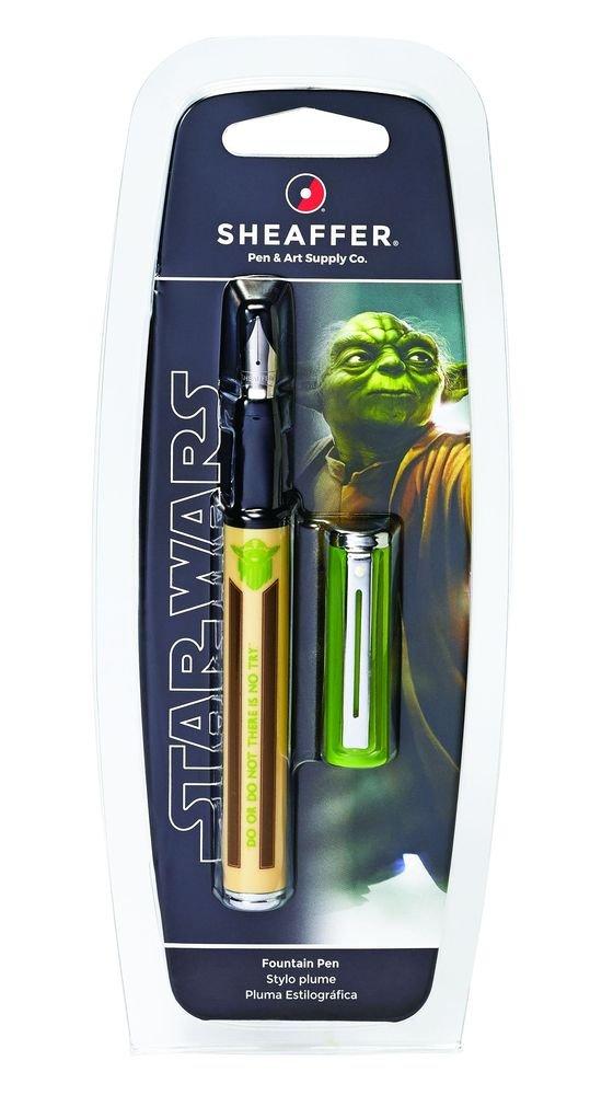 Sheaffer Pop Star Wars Yoda Fountain Pen with Chrome Trim and Medium Nib