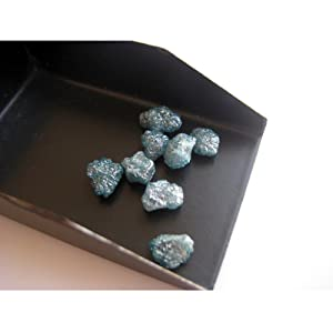 1 Piece, 6mm Approx Size, Blue Diamond, Raw Diamond, Rough Diamond, Uncut Diamond, Loose Diamond