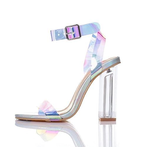 658c0a81815 JSUN7 Women's Fashion Chunky High Heel Sandal Pump Shoe