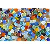 Bazare Masud e.K. 1000 stuks glas mozaïekstenen bonte mix 1x1 cm uit ca. 30 kleuren ca. 700 g.