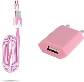 Cable Noodle 1 m Cargador y Enchufe para Wiko Lenny 3 Smartphone ...