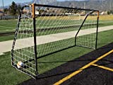 Vallerta Premier 12 X 6 Ft. AYSO Youth Regulation Size Soccer Goal w/Weatherproof 4mm Net. 50MM Diameter Black Powder Coated/Corrosion Resistant Frame. 12x6 Foot Practice Aid(1Net)ONE YEAR WARRANTY!
