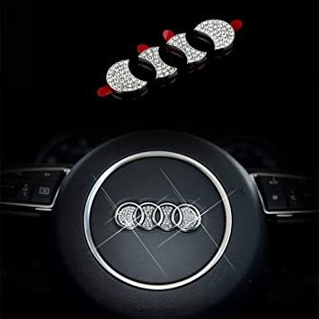 Pors.che Aocoti Bling Car Steering Wheel Emblem Decorative Diamond Sticker Compatible With Pors-che,DIY Bling Car Steering Wheel Emblem Bling Accessories