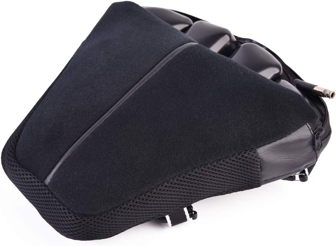 """Heran Motorcycle Seat Cushion Cruiser Pressure Relief Air Pad Fits Most Seats of Sport Touring 12"""" x 11.5"""""""
