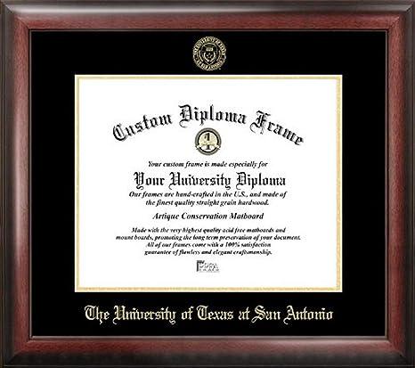 Amazon Com Campus Images Tx948ged University Of Texas San Antonio Embossed Diploma Frame 11 X 14 Gold