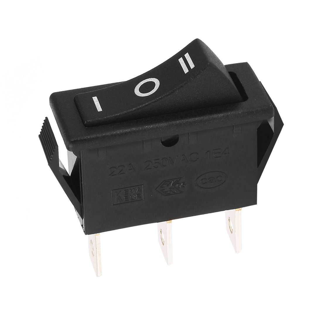 Uxcell Spdt 3p On Off 3 Position Boat Rocker Switch Mini Rockers Illuminated Non Switches Spst Black Ac 20a 125v 22a 250v Home Improvement