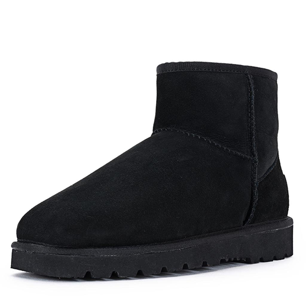 Black LIUshoes L&L Female Autumn and Winter Snow Boots Thicker Keep Warm Flat Boots