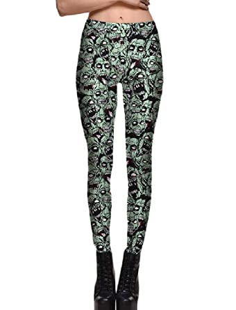 690f67dd66d62 Zimaes-Women Floral Printed Bodycon Plus Size Halloween Party Leggings at  Amazon Women's Clothing store: