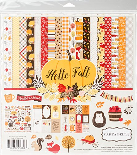 - Carta Bella Paper Company CBHF70016 Hello Fall Collection Kit