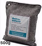 Esther Natural Air Purifying Bag, Natural Bamboo Charcoal Deodorizer, Naturally Removes Odor & Allergens. Fragrance free, chemical free, and non-toxic. 500g, Charcoal