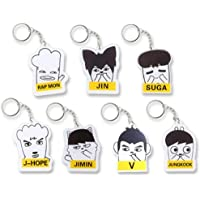 FUNCOCO Creative Key Chain, 7 Pcs Cartoon Acrylic Keychain Key Ring Hot Gift for Fans