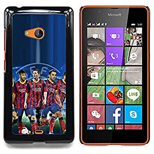 - Barcelona Soccer Team/ Hard Snap On Cell Phone Case Cover - Cao - For Microsoft Nokia Lumia 540 N540