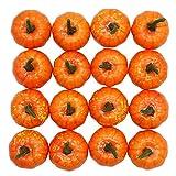 Yofit 16 Pcs Artificial Fruit Fake Mini Pumpkins