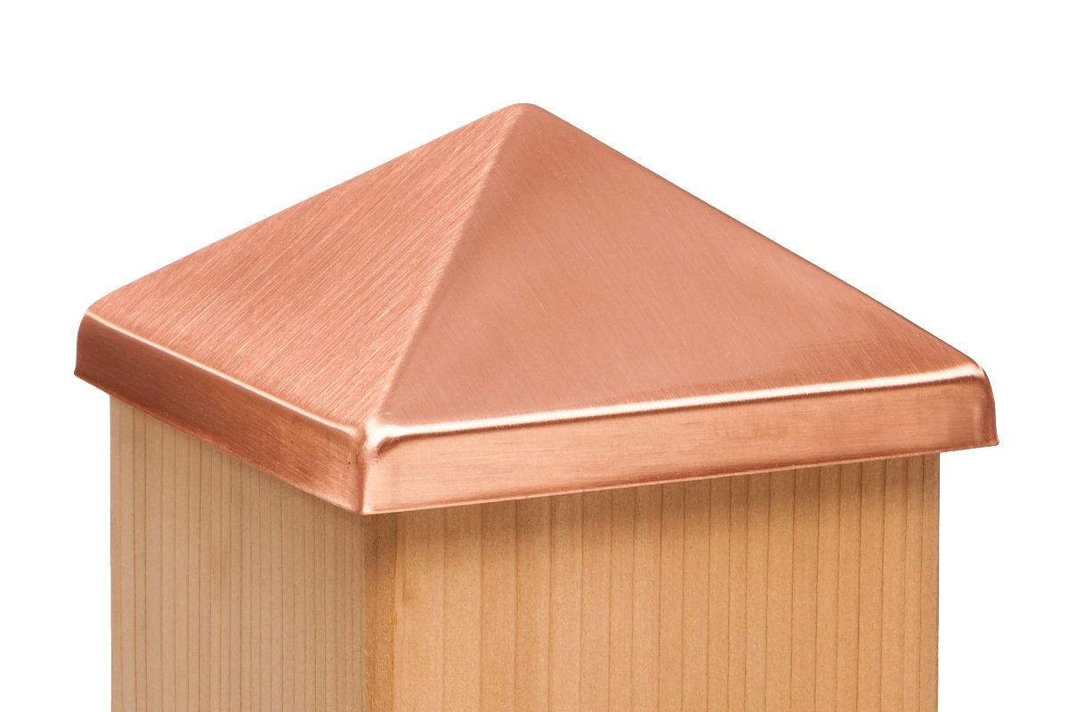 4x4 Post Point Cap - Solid Copper (3-1/2'' x 3-1/2'')