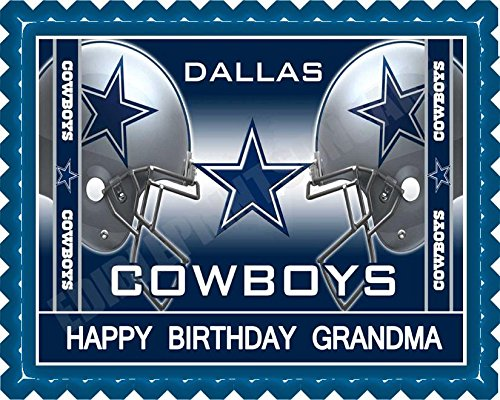 Dallas Cowboys (Nr2) - Edible Cake Topper - 7.5