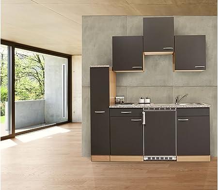 Respekta Blocco Cucina Singolo Da Cucina In Faggio 180 Cm 150 Cm 30 Armadietti Da Farmacia Amazon It Casa E Cucina