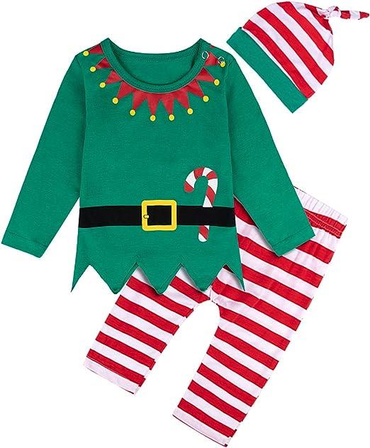 MOMBEBE COSLAND Conjuntos Navidad Bebé Niños Niña Elfo Costume ...