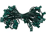 "C9 Light String, 100' Length, 12"" Spacing, Green Wire"