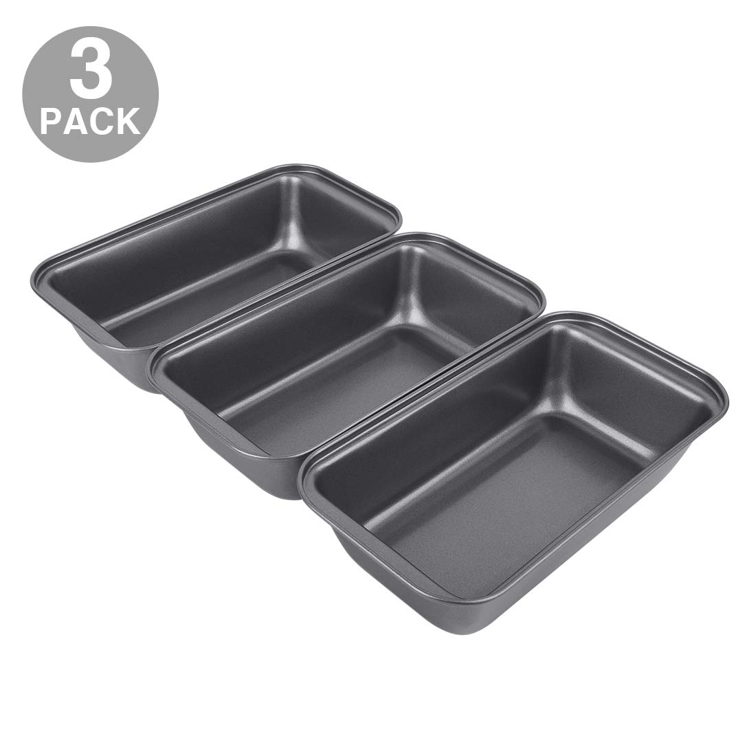 Nonstick Carbon Steel Baking Bread Pan, Large Loaf Pan, 9.5 x 5 Inch, Set of 3