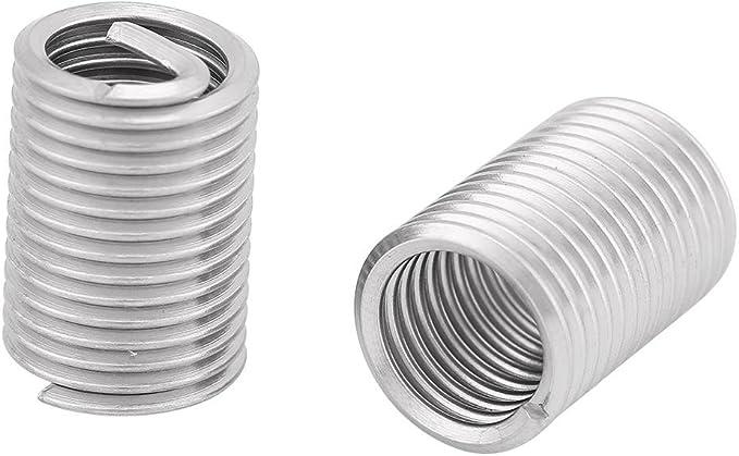 145PCS Wire Thread Inserts Thread Screws Sleeve Assortment Stainless Steel Screws Sleeve,Thread Repair Insert Kit
