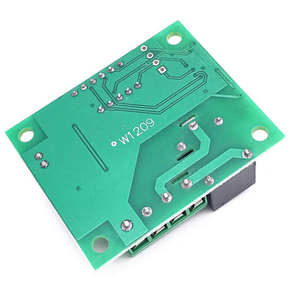 regulador de calibraci/ón DC 5 V//12 V//24 V 125 VAC LED term/ómetro digital term/ómetro controlador m/ódulo interruptor impermeable NTC sensor Termostato micro digital