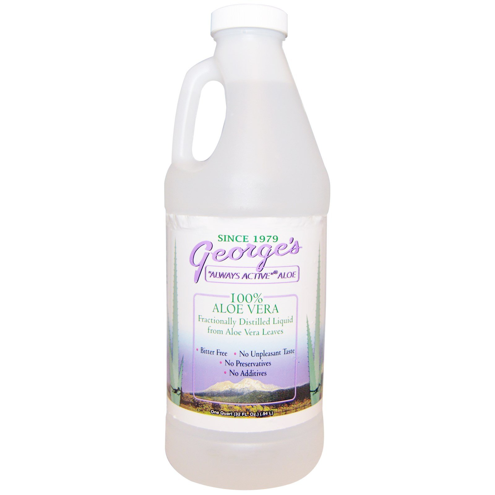 George's Aloe Vera, 100% Aloe Vera Liquid, 32 fl oz (.94 l)