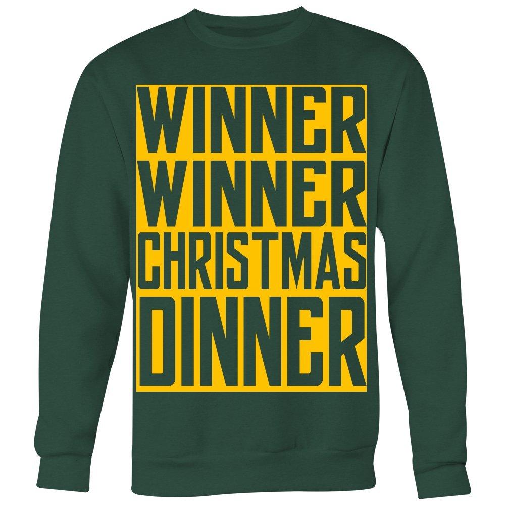 Winner Winner Christmas Dinner Christmas Sweatshirt Jumper aIktyagLbl