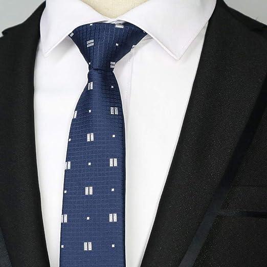 QEHWS Corbata Corbatas Estrechas para Hombre Polester Tirantes ...