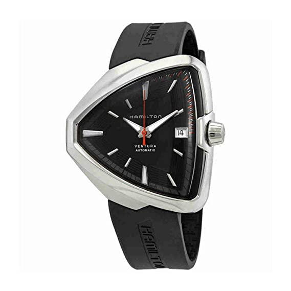 Hamilton Reloj de Hombre automático Correa de Goma Caja de Acero H24555331: Amazon.es: Relojes
