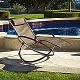 RST Outdoor OP-OL04S-brn Luis Orbital Zero Gravity Lounger Patio Furniture