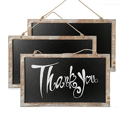 CALIFORNIA CADE ELECTRONIC Cade Vintage Framed Kitchen Chalkboard - Decorative Chalk Board for Rustic Wedding Signs, Kitchen Pantry & Wall Decor (3, 10.517.5in) (Vintage Wood Sign)