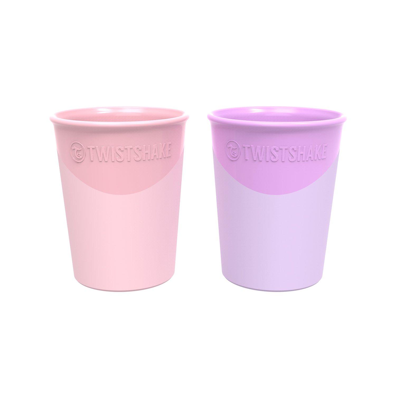 Pastel Pink Purple 2-Piece 6+ Months Twistshake Cup 170ml