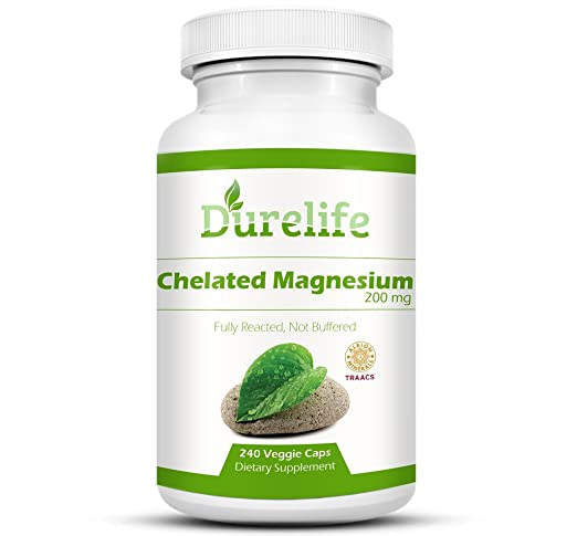 Amazon.com: Chelated Magnesium 200mg per Serving 240 Vegi Caps By DureLife, Albion Magnesium (TRAACS) Is A fully reacted Magnesium That Has The Highest ...
