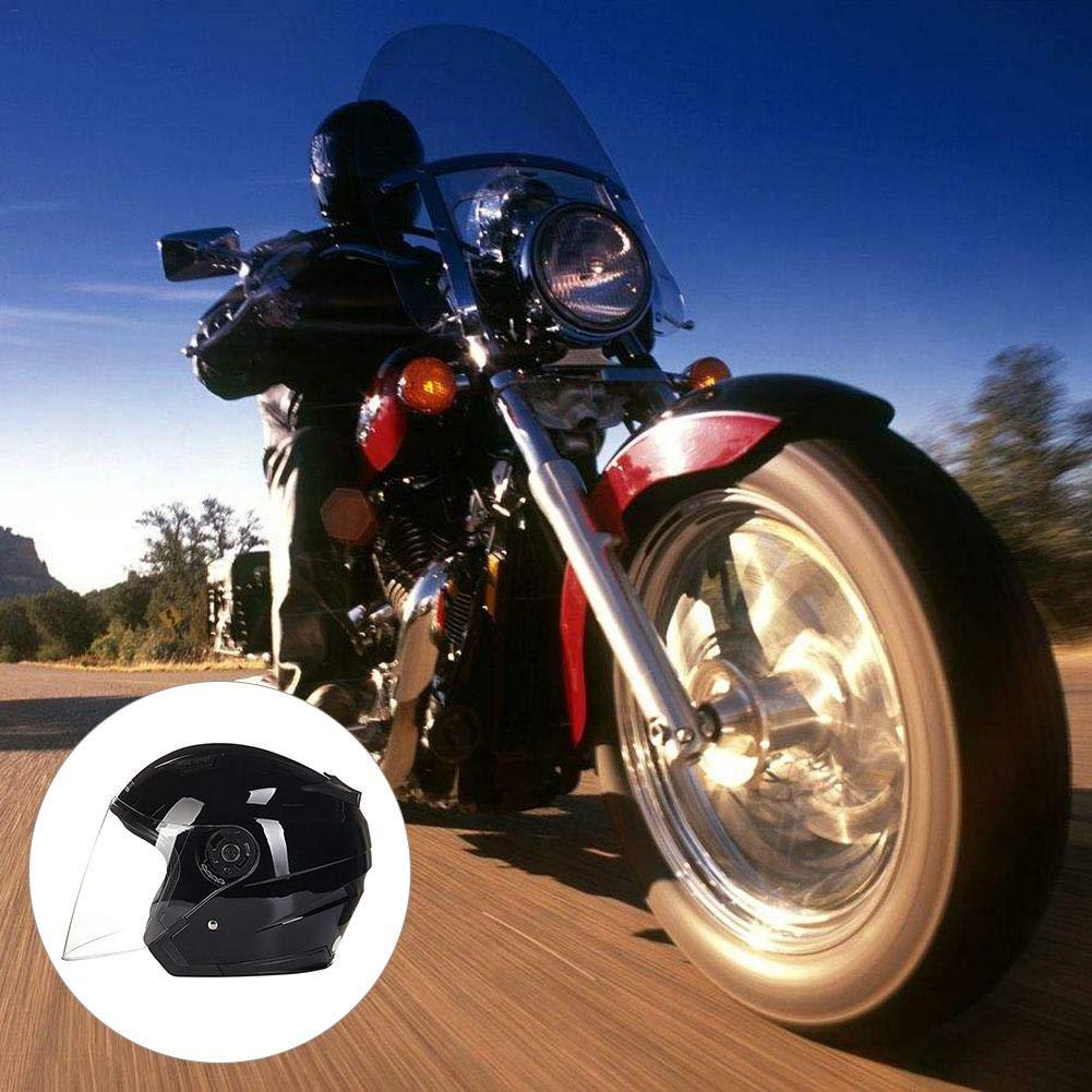 Keng Casque De Moto dhiver Garder Au Chaud Casque De S/écurit/é Batterie De Voiture Casque Homme Et Femme Casque Scooter Moto Moto Open Face Crash Casque Route L/égal