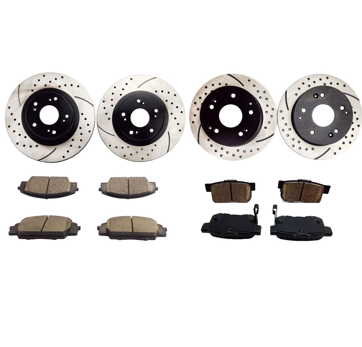 CHEAP Atmansta QPD20003 Front&Rear Brake Kit With Drilled