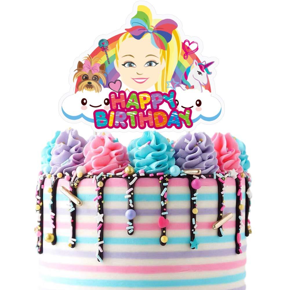 Jojo Cake Topper Cupcake Toppers Birthday Unicorn Party Decoration