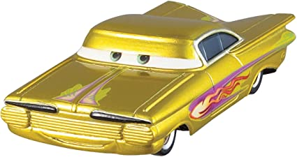 DISNEY PIXAR CARS DIE CAST MINI RACERS NEW YELLOW RAMONE WITHOUT THE PACKAGING