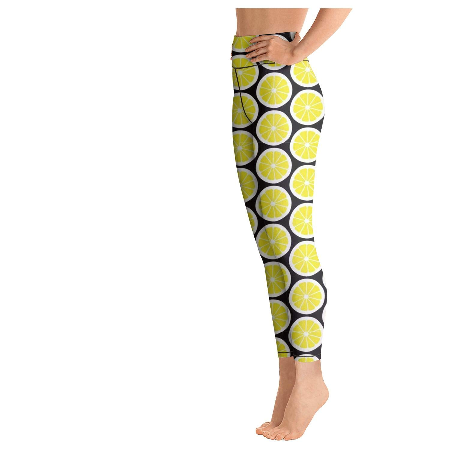 AWAWE Yummy Fruit Lemon Legging Pants Fitness Clothing