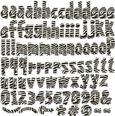 Reminisce Wild Things 12x12 Zebra Alphabet Stickers