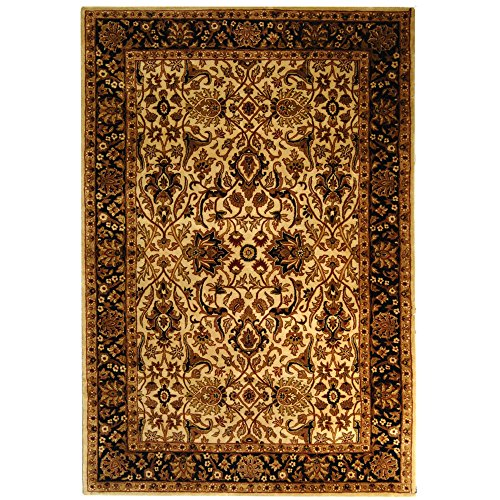 Safavieh Persian Legend Collection PL523D Handmade Traditional Ivory and Black Wool Area Rug (5