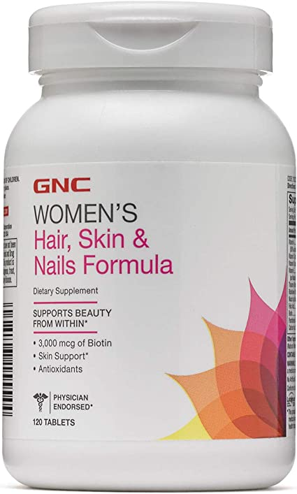 Gnc Womens Hair Skin Nails Formula 120 Caplets Supports Beauty From Within