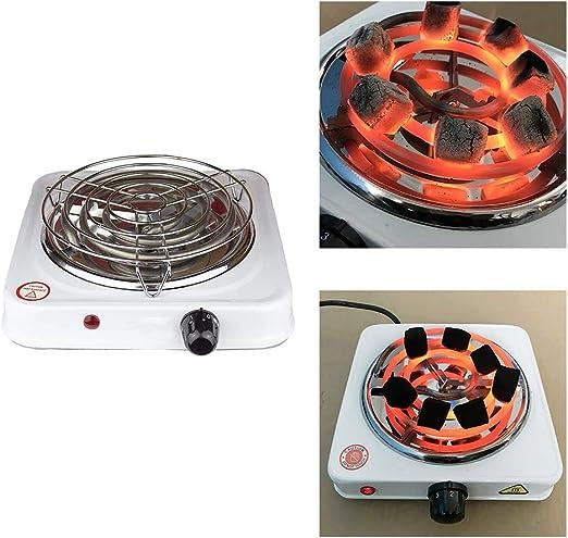 DeeCozy – Horno de carbón eléctrico, para shisha, parrilla de gas, camping, horno, carbón, estufa de leña, quemador de pipa de agua, para shisha carbón vegetal multifuncional quemador de carbón eléctrico con