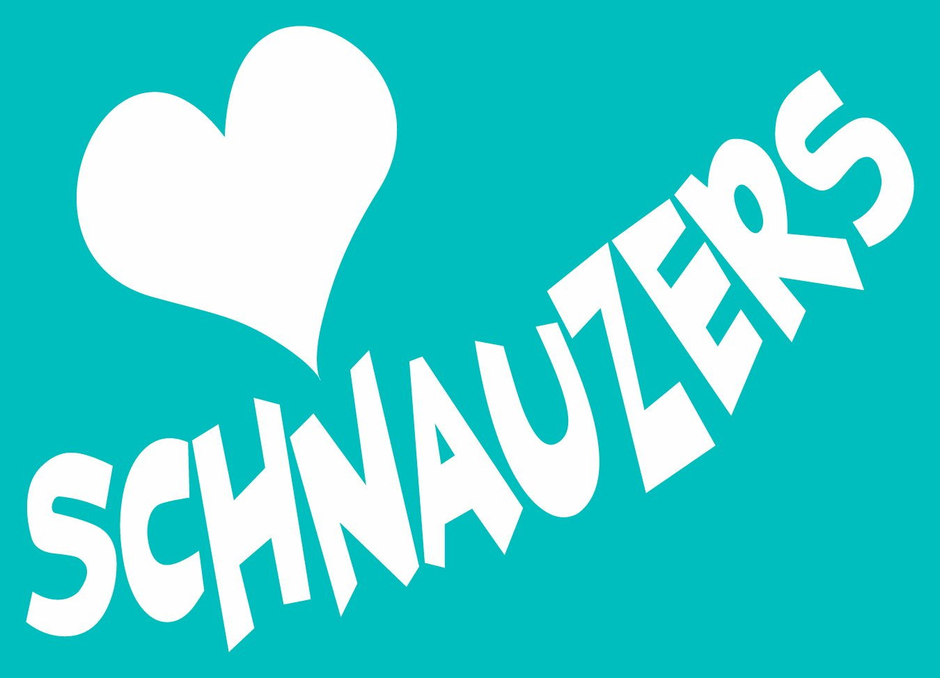 Imagine This Car Window Decal Heart Schnauzers Imagine This Company V0735