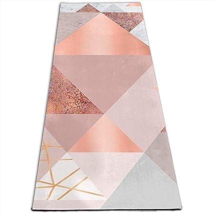 Amazon.com : Yoga Mat Blush Pink Geo for All Types of Yoga ...