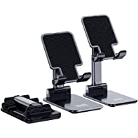 Technomounts Adjustable Cell Phone Stand for Desk, Foldable Mobile Phone Holder for most of phone and tablet sizes…