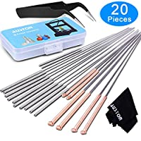 AUSTOR 20 Pieces 3D Printer Nozzle Cleaning Kit, 18 Pieces Cleaning Needles 0.2mm, 0.4mm, 0.6mm, 0.8mm, 1.0mm Drill Bits for 3D Printer (Bonus: 1 Tweezers and 1 Cleaning Cloth) from AUSTOR